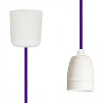 Pendant Lamp Porcelain Purple