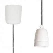 Pendant Lamp Porcelain Silver Grey Netlike