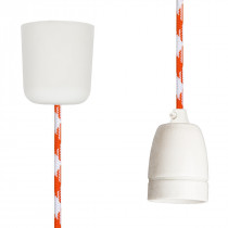 Pendant Lamp Porcelain White Orange