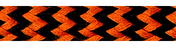Textile Cable Orange-Black Zig Zag