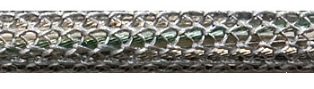 Textile Cable Silver-Grey Netlike Textile Covering