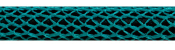 Textile Cable Turquoise-Black Netlike Textile Covering