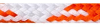 Textile Cable White-Orange-Orange