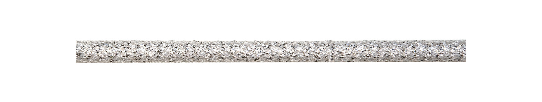 Textile Cable Silver-Glitter