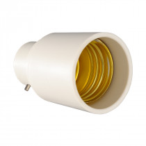 Adapter B22-E27 White