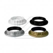 Plastic Shade Ring E27 Black White Gold Silver