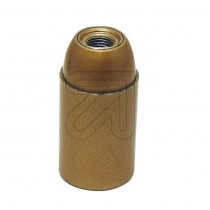 Plastic Lamp Holder E14 Unthreaded Gold