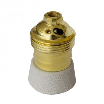 Brass/Porcelain Lamp Holder E27 Matte