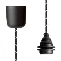 Pendant Lamp Plastic Black White