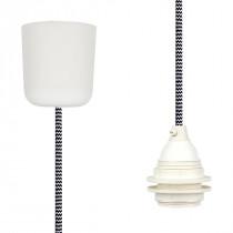 Pendant Lamp Plastic Black-White Zig Zag