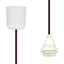 Pendant Lamp Plastic Brown