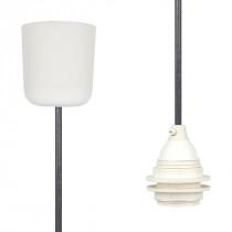Pendant Lamp Plastic Dark Grey Netlike