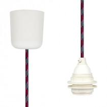 Pendant Lamp Plastic Grey-Black-Cerise