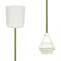 Pendant Lamp Plastic Neon Green Netlike