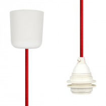 Pendant Lamp Plastic Red