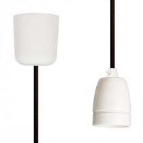 Pendant Lamp Porcelain Dark Brown