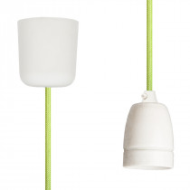Pendant Lamp Porcelain Light Green Netlike