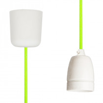 Pendant Lamp Porcelain Neon Green Yellow