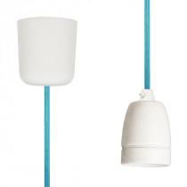 Pendant Lamp Porcelain Turquoise Netlike