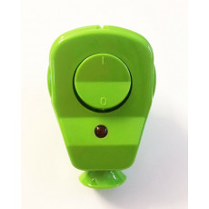 Schuko Plug with LED Control switch green