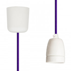 Pendant Lamp Porcelain Purple