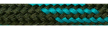 Textile Cable Brown-Green-Green