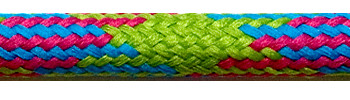 Textile Cable Green-Cerise-Turquoise