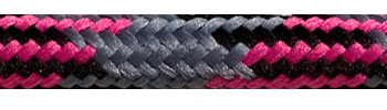 Textile Cable Grey-Black-Cerise