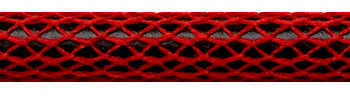 Textile Cable Red Netlike Textile Covering