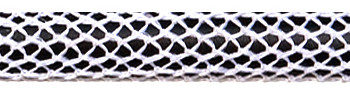 Textile Cable Shiny White-Black Netlike Textile Covering