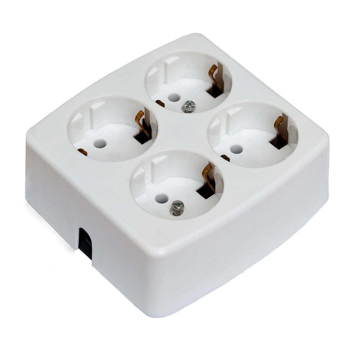 4 Socket Outlet White