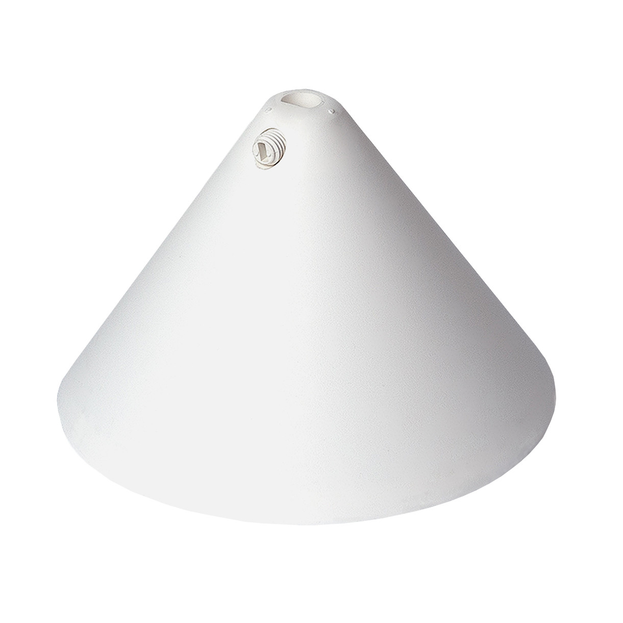 Canopy - Plastic Cone Shape With Screwable Cord Grip White