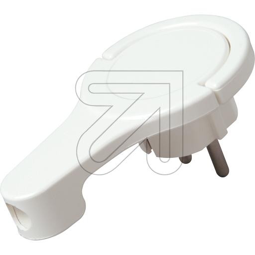 Extra Flat Schuko Plug White