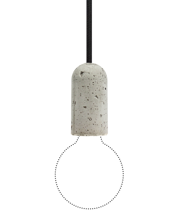 NUD BASE Concrete Pendant Lamp Black