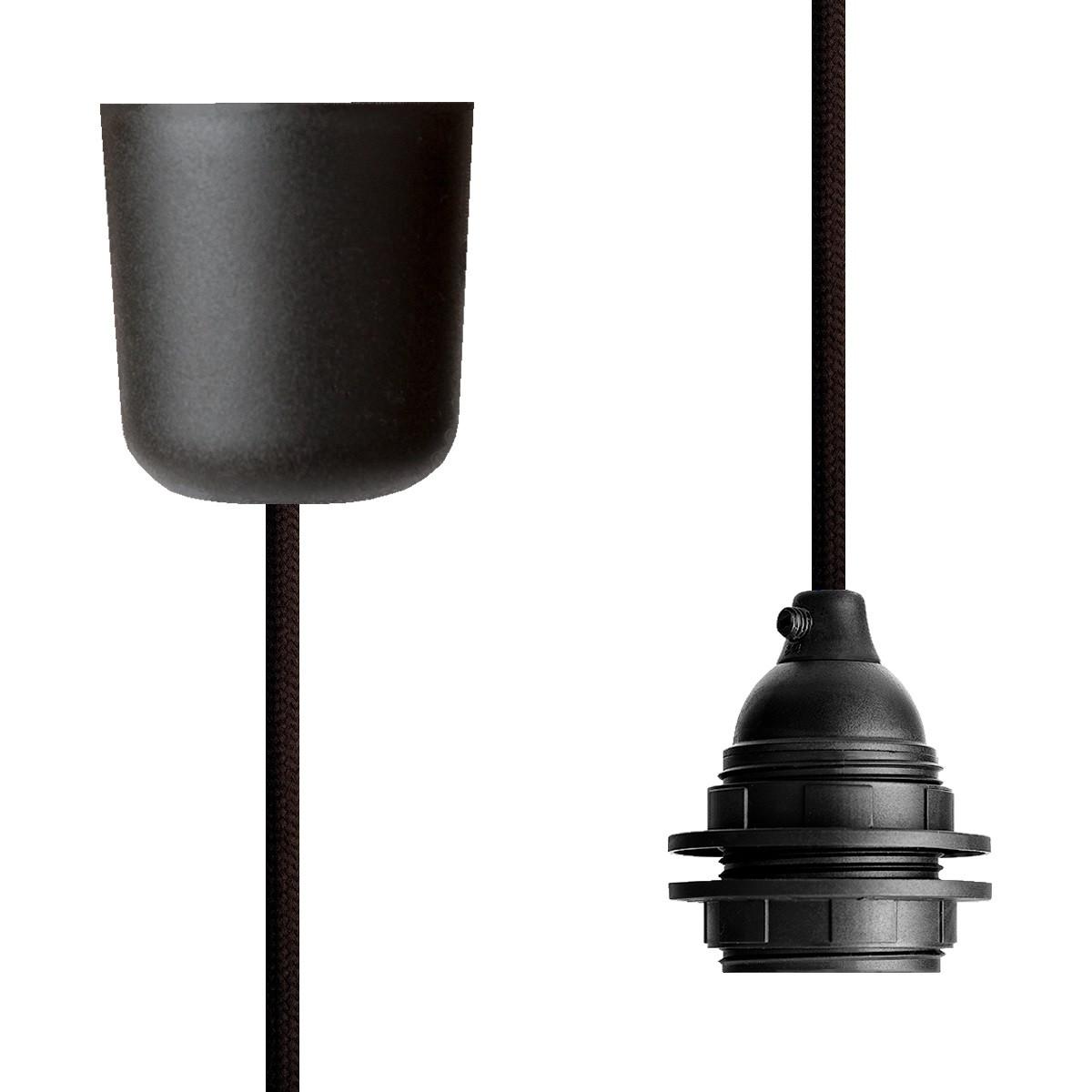 Pendant Lamp Plastic Dark Brown