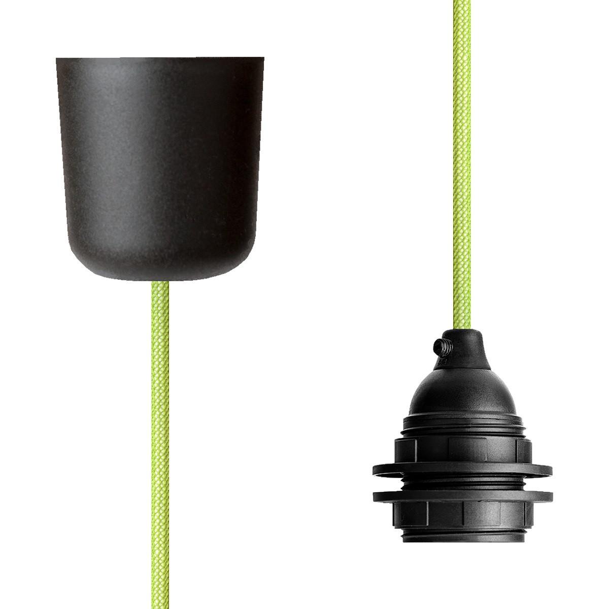 Pendant Lamp Plastic Light Green Netlike