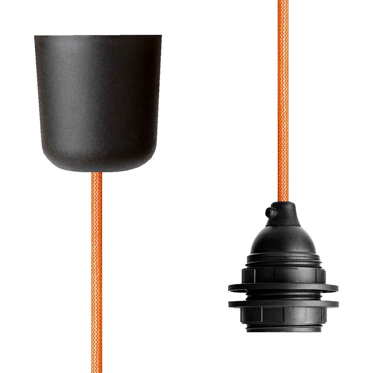 Pendant Lamp Plastic Orange Netlike