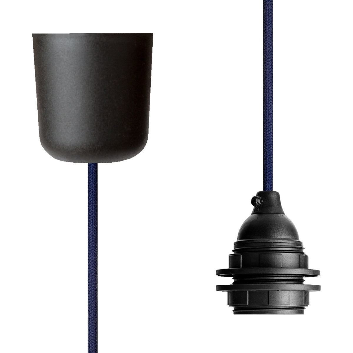 Pendant Lamp Plastic Steel Blue