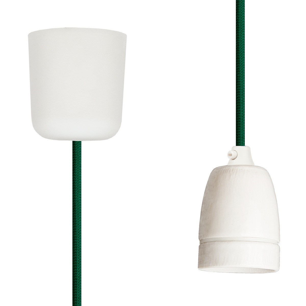 Pendant Lamp Porcelain Green
