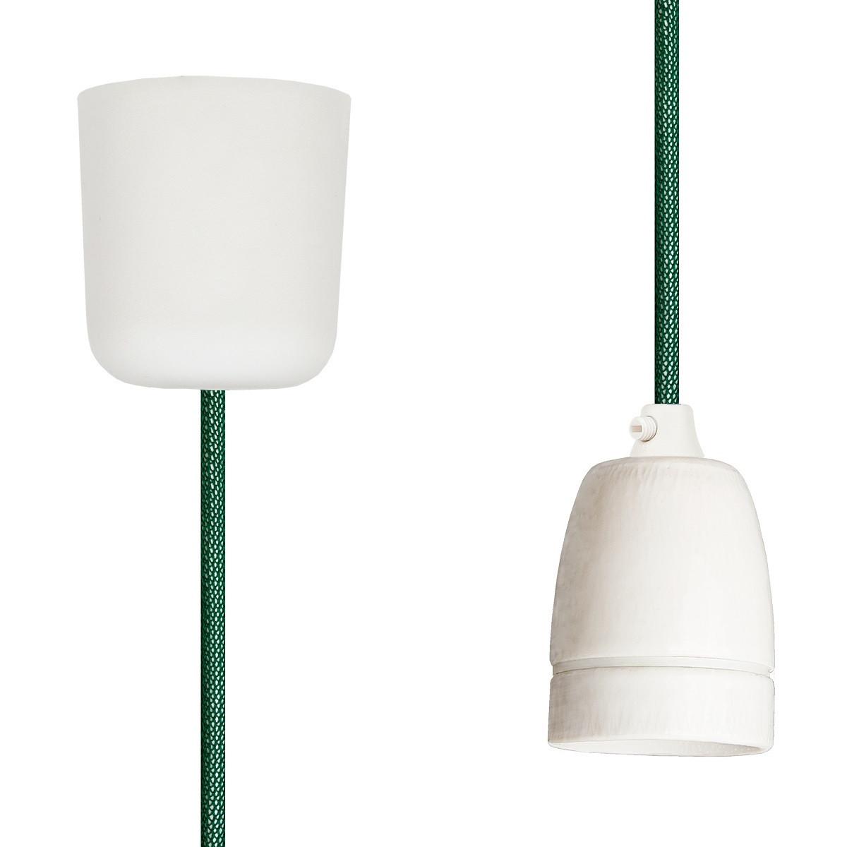 Pendant Lamp Porcelain Green Netlike