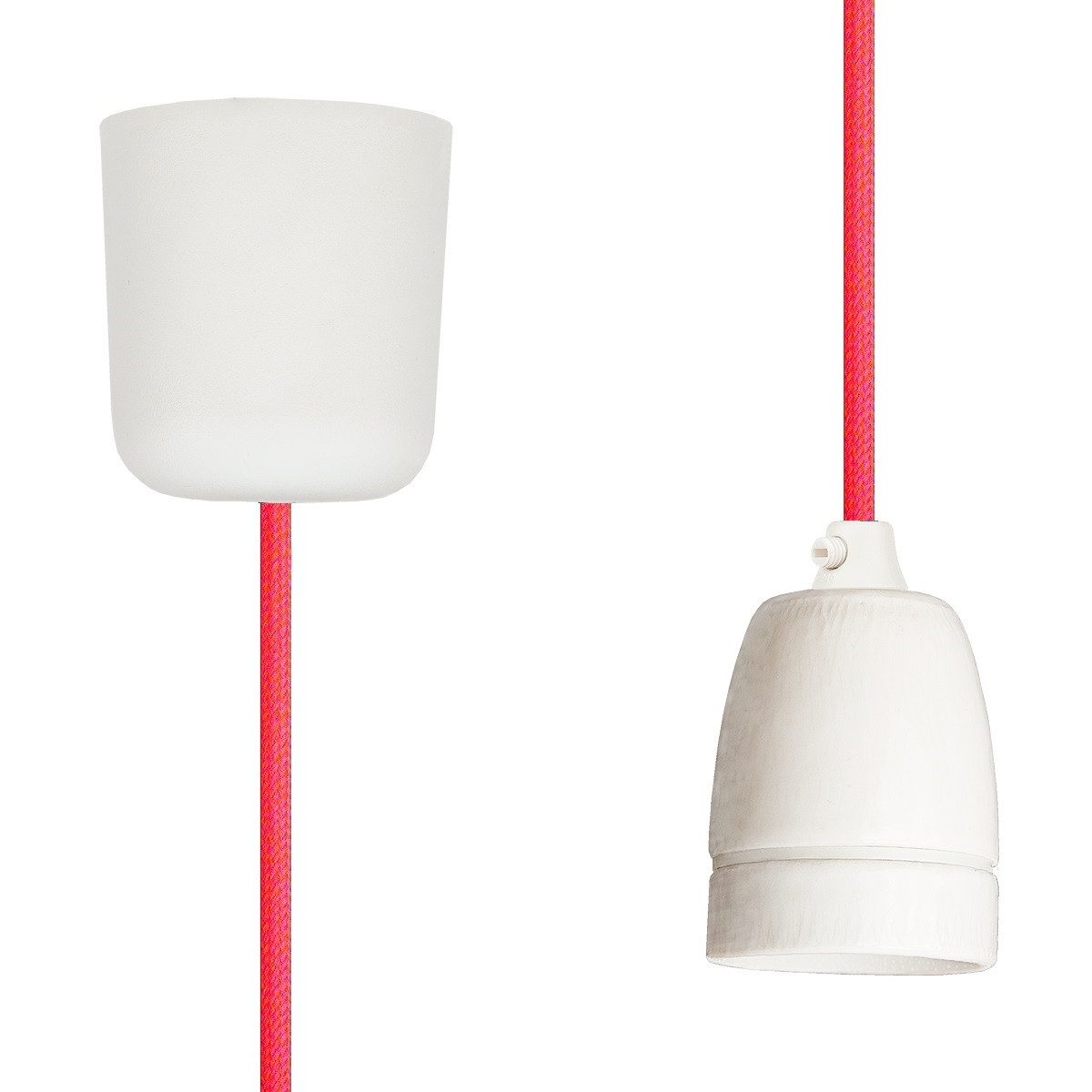 Pendant Lamp Porcelain Neon-Pink-Orange
