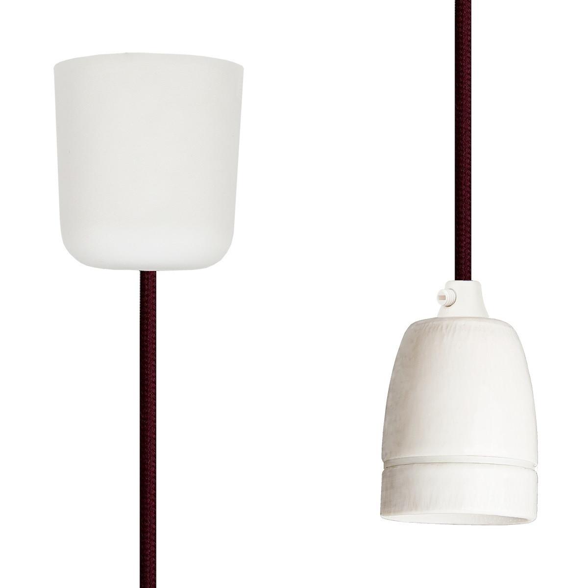 Pendant Lamp Porcelain Wine Red