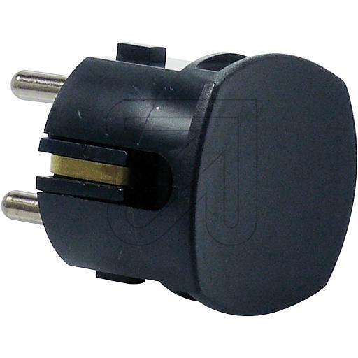 Schuko Plug Black Sphere