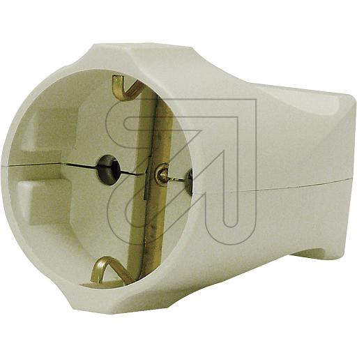 Schuko Plug Connector Cream-White