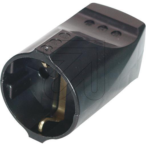 Schuko Plug Connector Black
