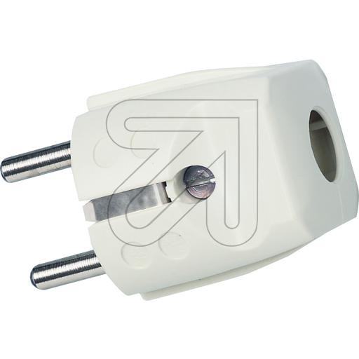 Schuko Plug Cream-White