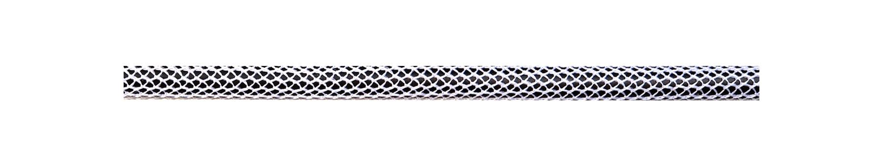 Textile Cable Shiny White-Black Netlike Textile Covering