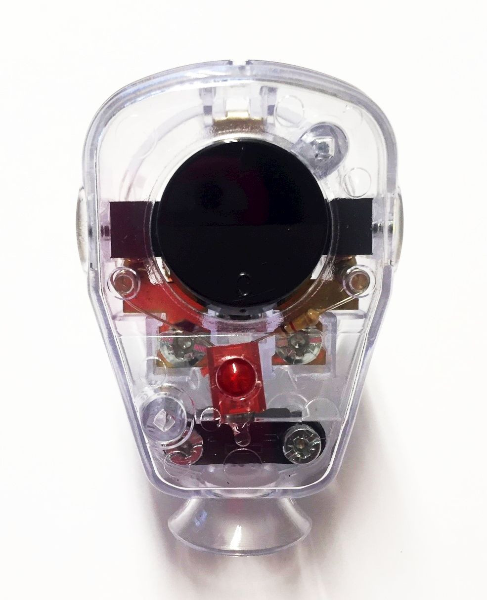 Schuko Plug with LED Control switch transparent-black