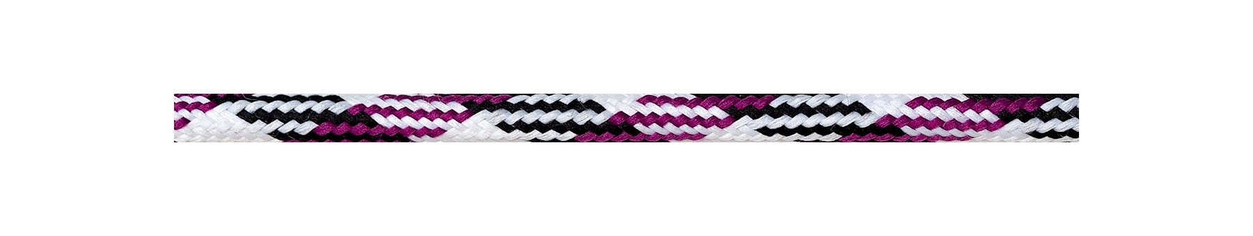 Textile Cable White-Black-Cerise
