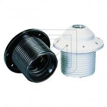 Plastic Lamp Holder E27 Threaded with Visor Black White